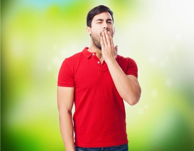 chinese man yawning