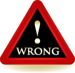 Wrong Warning Sign